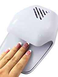 cheap -electric wind automatic pressure activates nail dryer white tip fan powered by 2 aa battery