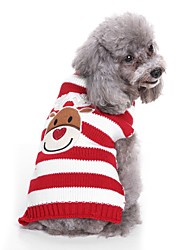 cheap -Dogs Sweater Winter Dog Clothes Black Red Costume Bulldog Shiba Inu Cocker Spaniel Terylene Crewels Yarn Dyed Character Sweet Style Casual / Daily S M L XL XXL