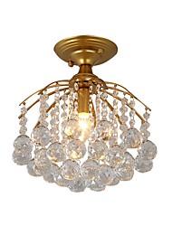 cheap -1-Light JLYLITE 30 cm Mini Style Flush Mount Lights Metal Crystal Painted Finishes Rustic / Lodge / Retro 110-120V / 220-240V / E12 / E14