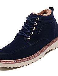 cheap -Men's Combat Boots Suede Winter Casual Boots Warm Mid-Calf Boots Black / Brown / Blue