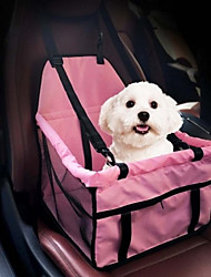 cheap -Dog Cat Mattress Pad Carrier Bag & Travel Backpack Bed Blankets Portable Breathable Foldable Solid Colored Oxford Cloth Nylon Special Material Black Red Pink