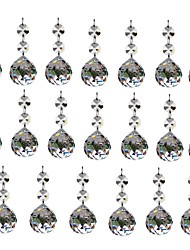 cheap -20pcs 30mm Crystal Glass Ball Chandelier Prisms Pendants Parts Beads
