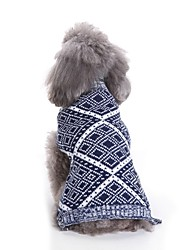 cheap -Dogs Sweater Winter Dog Clothes Red Blue Costume Bulldog Shiba Inu Cocker Spaniel Terylene Geometric Yarn Dyed Character Casual / Daily Simple Style S M L XL XXL
