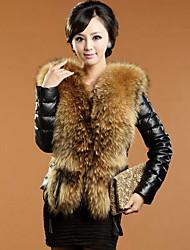 cheap -Long Sleeve Faux Fur / PU Wedding / Party / Evening Women's Wrap With Split Joint Coats / Jackets