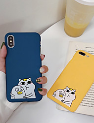 cheap -Case For Apple iPhone XS / iPhone XR / iPhone XS Max Frosted / Pattern Back Cover Cartoon Hard PC