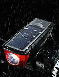 Недорогие -Светодиодная лампа Велосипедные фары Передняя фара для велосипеда Велосипедный рог Горные велосипеды Велоспорт Велоспорт Водонепроницаемый Супер яркий Портативные Осторожно! USB 350 lm