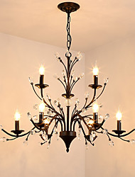 cheap -JLYLITE 9-Light 86 cm Mini Style Chandelier Metal Painted Finishes Retro / Traditional / Classic 110-120V / 220-240V