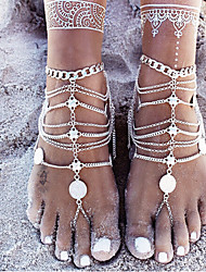 cheap -Women's Turquoise Link Bracelet Link / Chain Ethnic Stone Bracelet Jewelry Silver For Street Going out