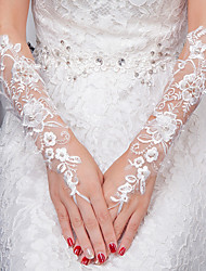 cheap -Lace Wrist Length Glove Gloves With Appliques
