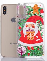 cheap -Case For Apple iPhone X Glitter Shine Back Cover Christmas Hard Plastic
