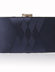 cheap -Women's Crystals Polyester / Silk Evening Bag Solid Color Black / Wine / Purple / Fall & Winter