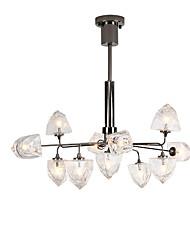 cheap -11 Bulbs ZHISHU 90 cm New Design Chandelier Metal Glass Geometrical Painted Finishes Artistic 110-120V / 220-240V
