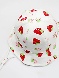 cheap -Kids / Toddler Girls' Sweet Fruit Cotton Hats & Caps White M / L / XL