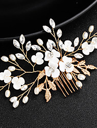 cheap -Alloy Hair Stick with Faux Pearl / Crystals 1 Piece Wedding / Special Occasion Headpiece