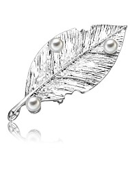 cheap -Women's Freshwater Pearl Brooches Chunky Ladies Artistic Simple Sweet Brooch Jewelry Silver For Going out Work