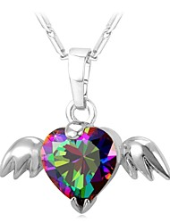 cheap -Women's Multicolor Pendant Necklace Chakra Wings Angel Ladies Fashion Cute Copper Gold Silver 55 cm Necklace Jewelry 1pc For Gift Daily