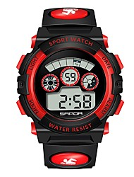 cheap -Couple's Digital Watch Digital Rubber Black Calendar / date / day Chronograph Noctilucent Digital Casual - Black / Red Black / Yellow Black / Blue