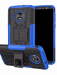 Недорогие -Кейс для Назначение Motorola Moto G6 Plus со стендом Кейс на заднюю панель броня Твердый ПК