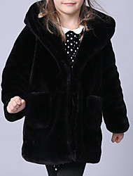 cheap -Kids Toddler Girls' Basic Solid Colored Long Sleeve Cotton Suit & Blazer Black