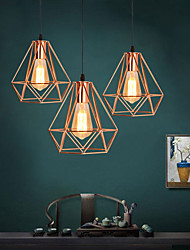 cheap -1-Light 20 cm Pendant Light Metal Geometrical Gold Contemporary / Artistic AC100-240V