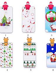 cheap -Case For Huawei Huawei Y6 (2018) / Huawei Y5 (2018) Pattern / DIY Back Cover Christmas Soft TPU