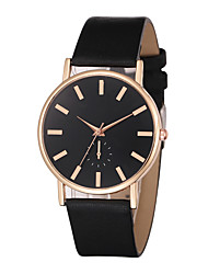 cheap -Men's Dress Watch Quartz Leather Black / White / Brown Casual Watch Cool Analog Classic Casual Elegant - White / Gold Rose Gold / White Black / Rose Gold One Year Battery Life