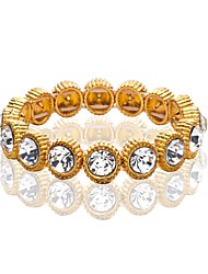 cheap -Men's Cubic Zirconia Handmade Link Bracelet Tennis Chain Luxury Fashion Hip-Hop Chrome Bracelet Jewelry Gold / Silver For Wedding Masquerade Engagement Party Prom Birthday Bar