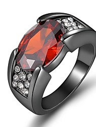 cheap -Couple's Couple Rings Engagement Ring Cubic Zirconia 1pc Purple Wine Resin Copper Round Ladies Stylish Luxury Wedding Gift Jewelry Vintage Style