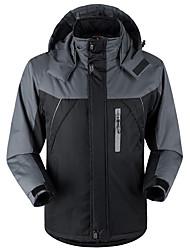 cheap -Men's Hiking Jacket Hiking Windbreaker Winter Outdoor Thermal / Warm Windproof Breathable Rain Waterproof Velvet Winter Jacket Top Ski / Snowboard Climbing Camping / Hiking / Caving Black Army Green