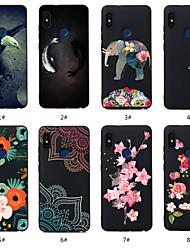 cheap -Case For Xiaomi Xiaomi Redmi Note 5A / Xiaomi Redmi Note 5 Pro / Xiaomi Redmi 6 Pro Pattern Back Cover Animal / Flower Soft TPU / Xiaomi Redmi Note 4X / Xiaomi Redmi Note 4