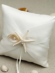 cheap -Fabric Starfish and Seashell Satin Ring Pillow Pillow All Seasons