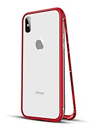 cheap -Case For Apple iPhone XS / iPhone XR / iPhone XS Max Shockproof / Magnetic Full Body Cases Solid Colored Hard Metal