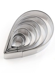 cheap -Bakeware tools Stainless Steel + A Grade ABS / Stainless steel Cute / New Design / Multifunction For Bread / For Cake / For Cookie Cake Cutter 7pcs