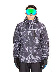cheap -Men's Hoodie Jacket Hoodie & Sweatshirt Ski Jacket Camping / Hiking Ski / Snowboard Outdoor Exercise Detachable Cap Skiing Winter Sports Polyester Eco-friendly Polyester Terylene Tracksuit