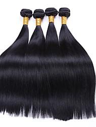 cheap -4 Bundles Indian Hair Straight Human Hair Natural Color Hair Weaves / Hair Bulk Bundle Hair Human Hair Extensions 8-28 inch Natural Color Human Hair Weaves Women Extention Best Quality Human Hair