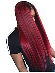 cheap -Remy Human Hair Full Lace Lace Front Wig Asymmetrical Wendy style Brazilian Hair Straight Natural Straight Wig 130% 150% 180% Density with Baby Hair Soft Women Easy dressing Best Quality Women's Long
