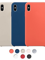 cheap -Case For Apple iPhone XS Max / iPhone X Shockproof / Dustproof / Water Resistant Back Cover Solid Colored Hard Rubber
