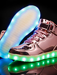 cheap -Boys' / Girls' LED / LED Shoes Patent Leather Sneakers Little Kids(4-7ys) / Big Kids(7years +) Walking Shoes LED Gold / Pink / Silver Fall / Winter / Party & Evening / Rubber