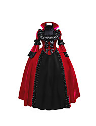 cheap -Princess Rococo Victorian Dress Women's Lace Japanese Cosplay Costumes Black Ball Gown Vintage Long Sleeve Ankle Length Long Length