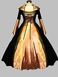 cheap -Victorian Medieval Costume Women's Dress Party Costume Masquerade Black Vintage Cosplay Terylene Corduroy Satin Long Sleeve Long Length