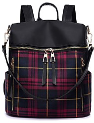 cheap -School Bag Women's PU Zipper Geometric Pattern Sports & Outdoor / Daily Blue / Red / Fall & Winter