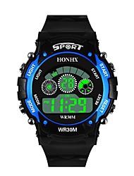 cheap -Men's Sport Watch Digital Watch Japanese Digital Silicone Black 30 m Water Resistant / Waterproof Alarm Calendar / date / day Digital Fashion - Black / Yellow Black / Blue / Chronograph / Stopwatch