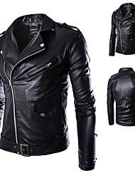 abordables -AOWOFS Y012 Vêtements de moto Veste pour Homme faux cuir / Polyester Printemps & Automne / Hiver Imperméable / Résistant / Protection