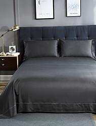 cheap -Flat Sheet - 100% Egyptian Cotton Jacquard Solid Colored 1pc Flat Sheet / 2pcs Pillowcases