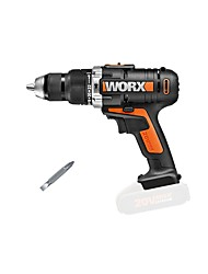 cheap -WORX Multi-function Charging Impact Drill Bare Metal WX372.9 Hand Drill Electric Screwdriver Hardware Home Decoration Power Tools