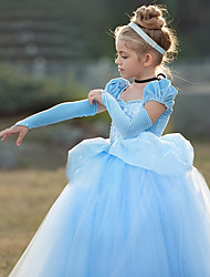 abordables -Princesse Cinderella Rétro Vintage Lolita Cosplay Robe Fille Costume Violet / Bleu Vintage Cosplay Manches Courtes