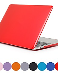 cheap -MacBook Case for Air Pro Retina 11 12 13 15 Laptop Cover Solid Colored Transparent Matt PVC Case for Macbook New Pro 13.3 15 inch with Touch Bar