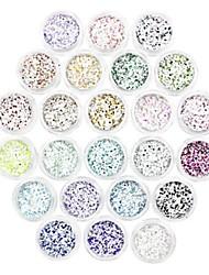 cheap -24 pcs New Eco-friendly Material Glitter Powder Loose powder For Creative nail art Manicure Pedicure Daily Trendy / Fashion