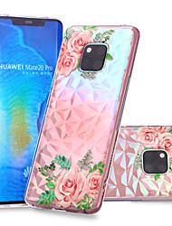 cheap -Case For Huawei Huawei Nova 3i / Huawei P smart / Huawei P Smart Plus Pattern Back Cover Flower Soft TPU