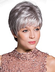 cheap -Synthetic Wig Straight Short Bob Wig Short Black / White Synthetic Hair 6 inch Women's Synthetic White